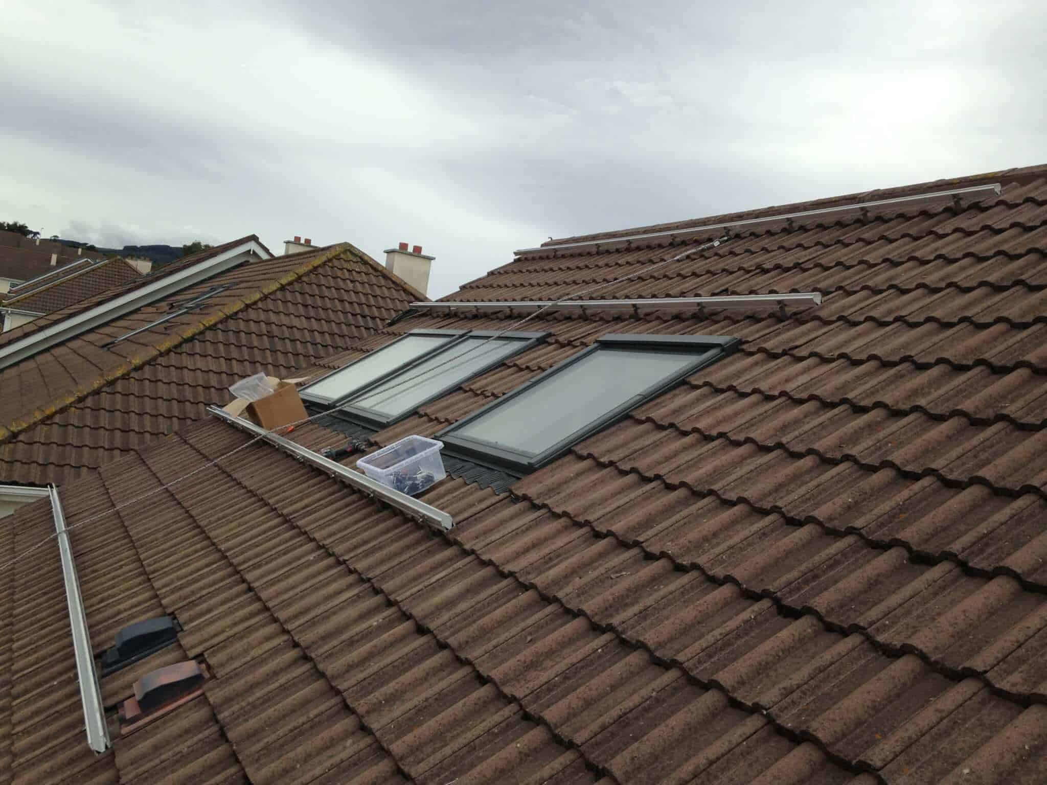 3.9kWP Solar PV Install before picture of roof