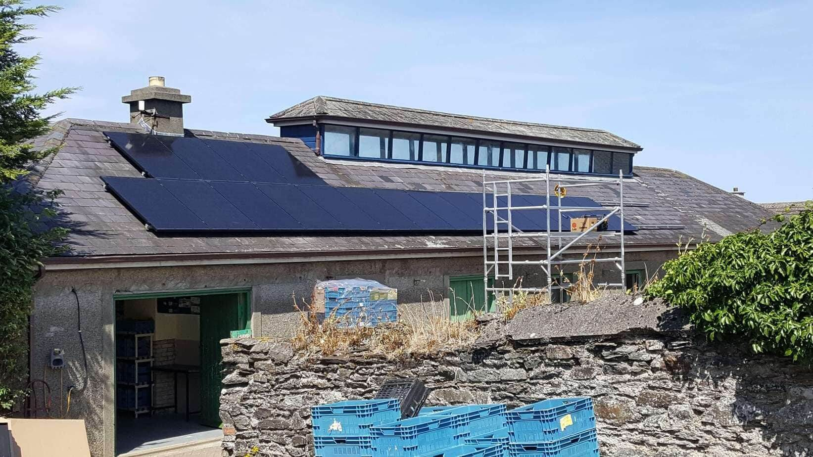 11kWP Slate Roof SME Solar PV at Wicklow Ecology Centre