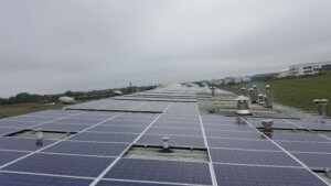 100kWP Rooftop Solar PV Installed by SaveMeMoney on McLusky Bakery Roof